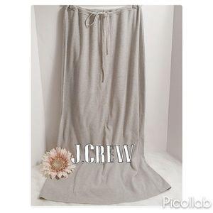 J.Crew Gray Jersey Maxi Skirt